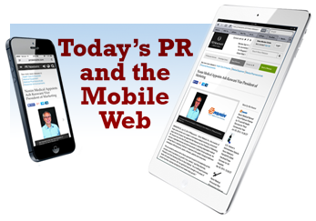 Press Releases being viewed on mobile devices